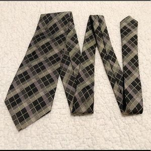 Polo By Ralph Lauren Plaid Silk Tie.